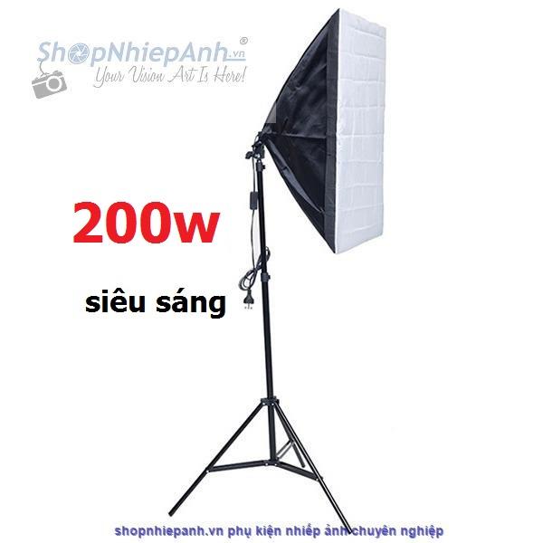 thumbnail Combo kit đèn chụp sản phẩm softbox 50x70 200w ánh sáng trắng