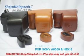 Bao da+dây da Sony A6000 & nex 6/nex 7(hàng cực đẹp)