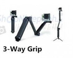 Monopod Tripod Stand Grip 3-way for action camera