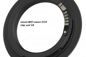 mount M42-EOS chip emf V8 Jinglu