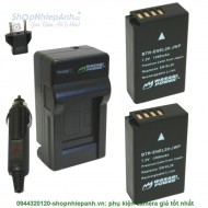 Combo 2 viên pin và sạc WASABI EN-EL20 for black magic nikon J1 V3...