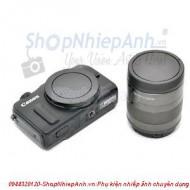 Cap body và lens canon-M (microless)