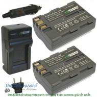 Combo 2 viên pin và sạc WASABI EN-EL3e for nikon D90 D300 D700 D70...