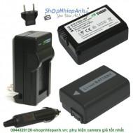 Combo 2 viên pin và sạc WASABI FW50 for sony A7 A6000 Nex E-mount