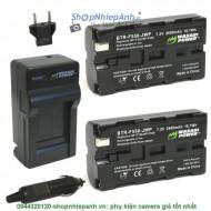 Combo 2 viên pin và sạc WASABI F530 F550 F570 for sony camera