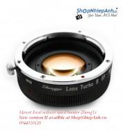 mount focal reducer booster ZhongYi for E-mount