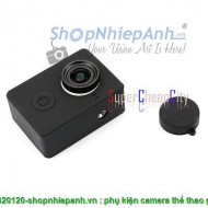Silicon case +cap cover for Xiaomi Yi camera