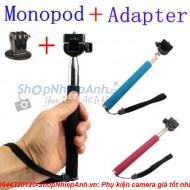 Combo monopod tự chụp+Gopro adapter tripod
