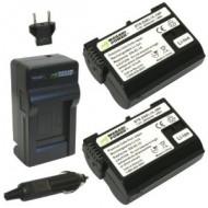 Combo 2 viên pin và sạc WASABI EN-EL15 for Nikon D610 D810 D7000 D7100...