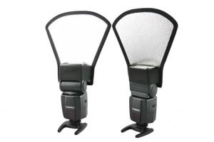 Flash reflector tai gấu 2 mặt