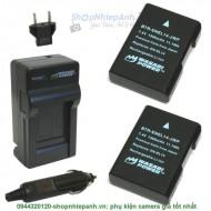 Combo 2 viên pin và sạc WASABI EN-EL14 for Nikon D3200 D5300 D5500 P7800