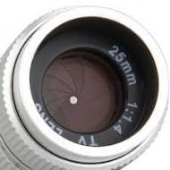 Combo lens cctv Fujian 25 F 1.4+ring Macro