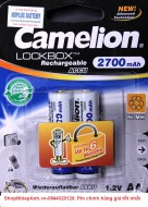 pin sạc AA Camelion 2700mah lockbox technology (2pcs)