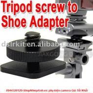 Adapter chuyển chân ốc tripod thành chân flash