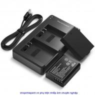 Bộ 2 pin và sạc kép RAVpower for Canon LP-E10 1100D 1200D 1300D Rebel T3 T5 T6 T7 Kiss X50 X70