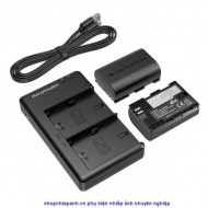 Bộ 2 pin và sạc kép RAVpower for Canon LP-E6 5D IV 5DS 5DR 6DII 70D 80D 90D