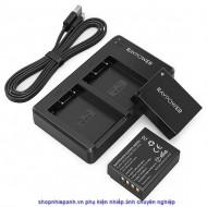 Bộ 2 pin và sạc kép RAVpower for Fujifilm NP-W126S X-A X-E X-H X-T X-M X-Pro series