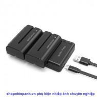 Bộ 2 pin F550 và sạc kép RAVpower for Sony F-series F970 F770 F550
