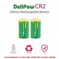 Bộ 2 viên pin sạc CR2 Delipow