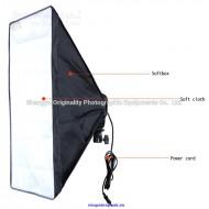 Bộ Kit chuôi đèn E27 softbox 50x70cm