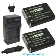 Bộ pin sạc Li-ion cho Fuji NP-95, X100, X100S, X-S1, X70, REAL 3D W1