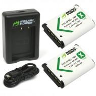 Bộ pin sạc đôi Wasabi cho Sony NP-BX1 for RX1 RX100 WX300 HX90