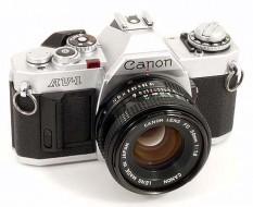 Canon AV-1 và lens 50