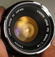 Canon FD 50f1.8 silver nose edition