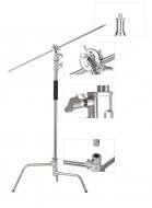 Chân đèn C stand và tay treo đèn inox (CK-1)