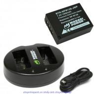 Combo 1 Pin Và Sạc Đôi NP-W126 For Fujifilm X-E1 X-A2 X-M1 X-T1...