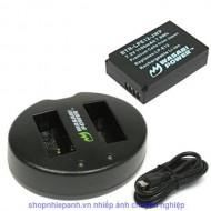 Combo 1 pin và Sạc Đôi Wasabi for Canon LP-E12