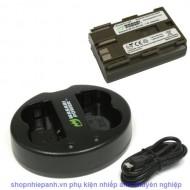 Combo 1 Pin Và Sạc Đôi WASABI Pin Wasabi BP-511 for Canon  EOS 5D, 10D, 20D, 20Da, 30D, 40D, 50D, 300D