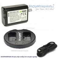 Combo 1 pin Wasbi và 1 sạc đôi Kingma FW50 for sony A7 A6500 A6300 A5100