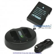 COMBO 1 VIÊN PIN VÀ SẠC ĐÔI WASABI EN-EL14 FOR NIKON D3200 D5300 D5500 P7800