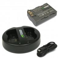 Combo 1 viên pin và sạc đôi WASABI EN-EL3e for nikon D90 D300 D700 D70...