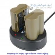 Combo 2 pin và Sạc Đôi Kingma for Canon BP-511A 1600mah