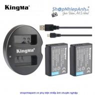 Combo 2 pin và Sạc Đôi Kingma for Canon LP-E10 840mah