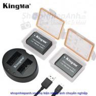 Combo 2 pin và Sạc Đôi Kingma for Canon LP-E12 750mah