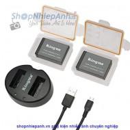Combo 2 pin và Sạc Đôi Kingma for Canon LP-E17 1040mah