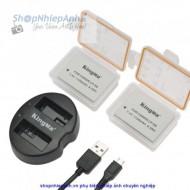 Combo 2 pin và Sạc Đôi Kingma for Canon LP-E8 1120mah