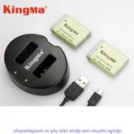 Combo 2 pin và Sạc Đôi Kingma for Canon NB-13L