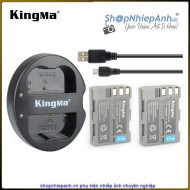 Combo 2 Pin và Sạc đôi Kingma for Nikon EN-EL3e 1600mah