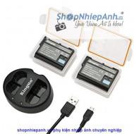 Combo 2 pin và Sạc Đôi Kingma for Nikon EN-EL15 1960 mah