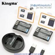 Combo 2 pin và Sạc Đôi Kingma for Pentax D-li90 1600mah