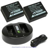 Combo 2 Pin Và Sạc Đôi Wasabi NP-W126 For Fujifilm X-E1 X-A2 X-M1 X-T1...