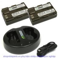 Combo 2 pin và Sạc Đôi Wasabi for Canon BP-511