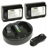 Combo 2 Pin Và Sạc Đôi WASABI NP-FZ100 for Sony A9, A7R III, A7 MARK III A6600