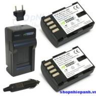 Combo 2 pin và sạc for Panasonic DMW-BLF19 GH3 GH4