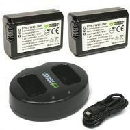 Combo Pin sạc máy ảnh Sony( 2 Viên Pin + Sạc Đôi WASABI FW50 cho Sony A7 A6000 Nex E-Mount)