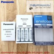 Combo 4 Pin Eneloop AA và Sạc Panasonic BQ-CC51C